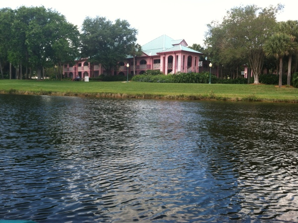 View from the paddle boat at Caribbean Beach Resort