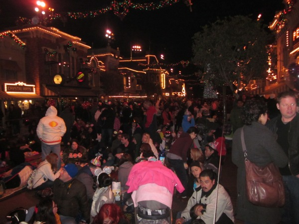 Camping out on Main Street at Disneyland- NY Eve 2012