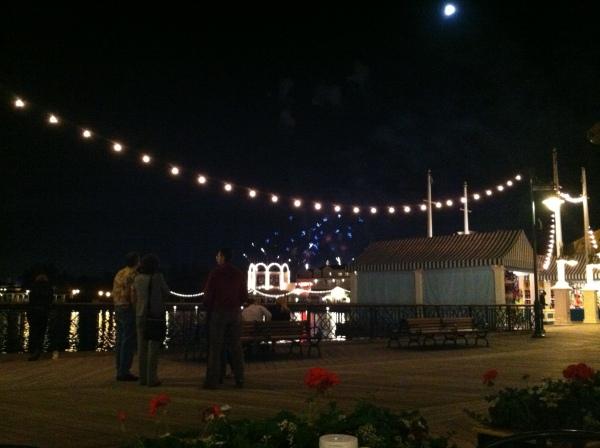 Disney's Boardwalk at night