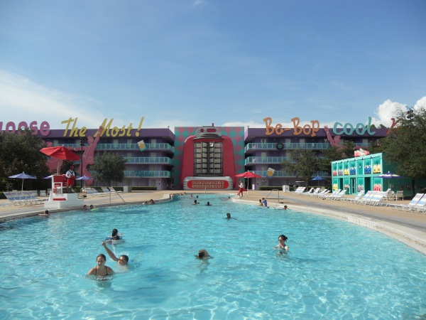 Pop Century Resort bowling pin pool