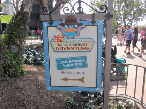Sign Up Station for Agent P's World Showcase Adventure