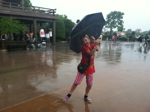 Singing in the rain at Ecpot