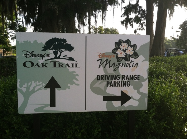 Oak Trail / Magnolia sign