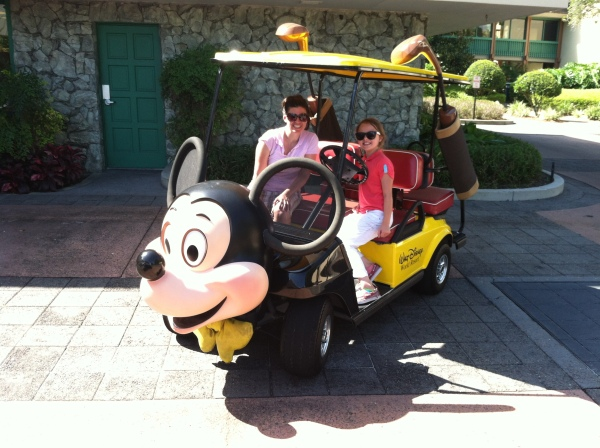 Mickey golf cart