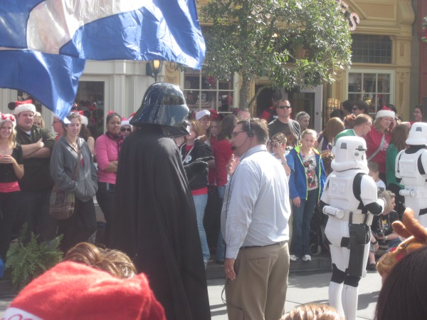 Darth Vader Christmas Parade at Magic Kingdom