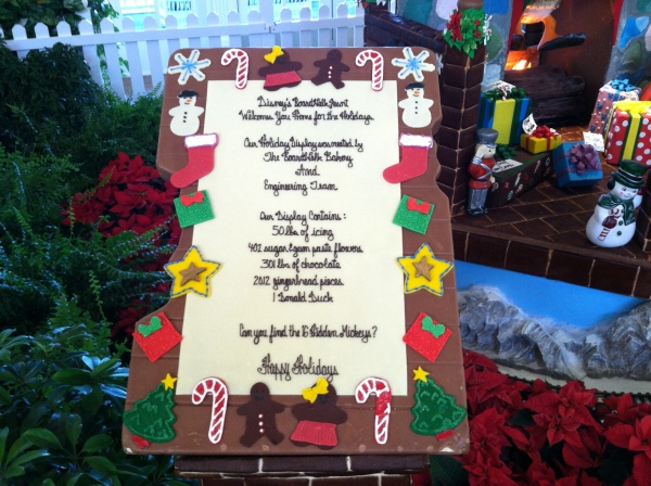 Gingerbread house at Disney's BoardWalk Inn