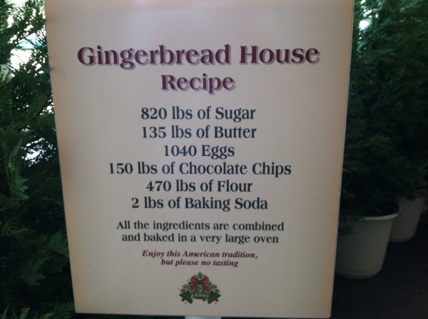 Gingerbread Mansion - American Pavilion Epcot
