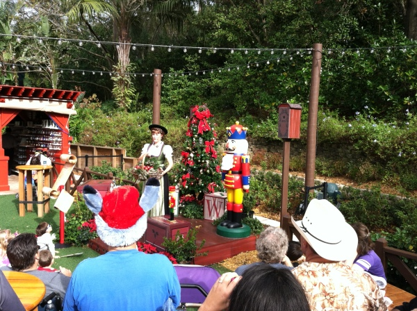 Holiday story with Helga in Germany pavilion at Epcot