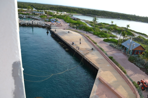 Disney Magic pulling into Castaway Cay