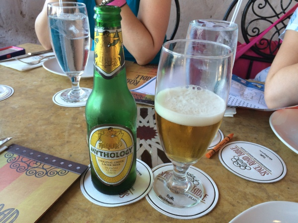 Mythos Greek Beer at Spice Road Table
