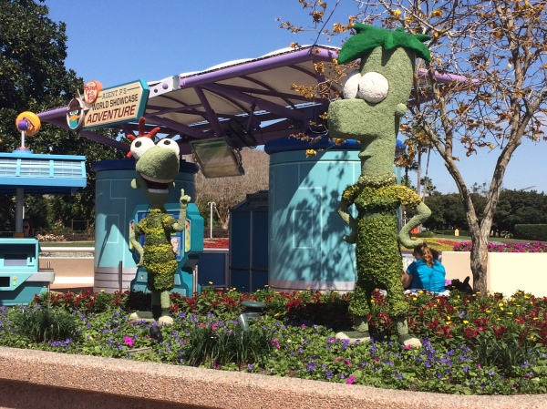 Epcot Flower and Garden Festival - Phinneas and Ferb