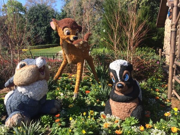 Epcot Flower and Garden Festival - Bambi, Thumper and Flower