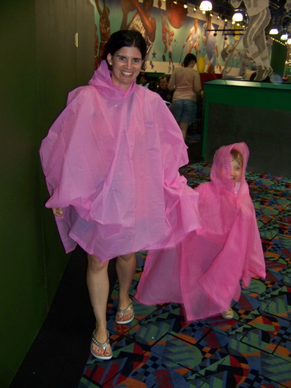 Me wearing a poncho before I knew better