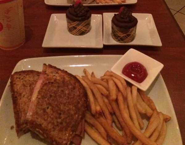 Croque Monsieur with Triple Chocolate Cupcake