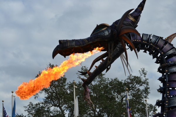 Fire breathing dragon - Magic Kingdom Festival of Fantasy Parade
