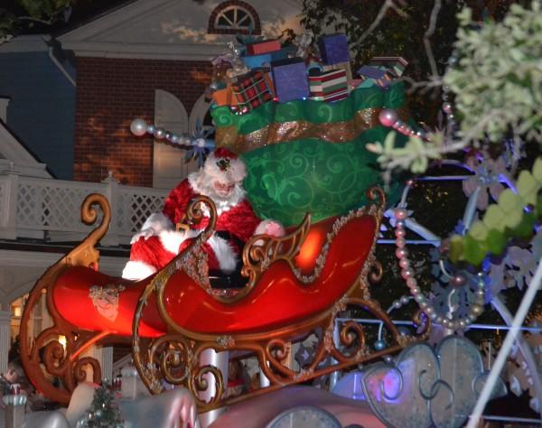 Santa joined Mickey;